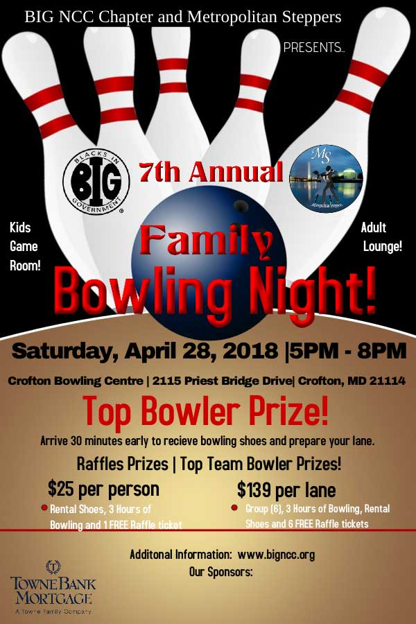 2018 Family Bowling Night Event's Details