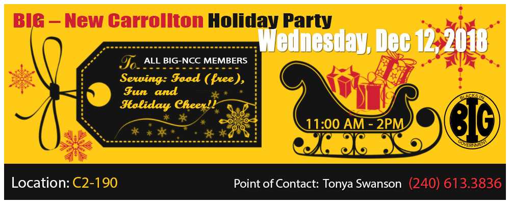 2018 BIG IRS NCC chapter Holliday Party