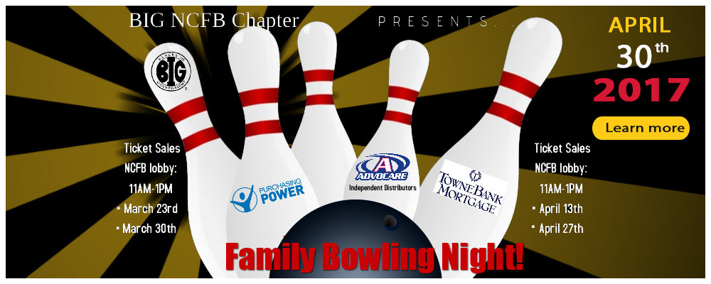 BIG New Carrollton Chapter Presents….Family Bowling Night