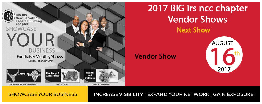 2017 BIG irs ncc chapter Vendor Shows 2017 BUSINESS EXPO