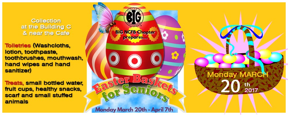 BIG New Carrollton Chapter Presents…Easter Baskets for seniors